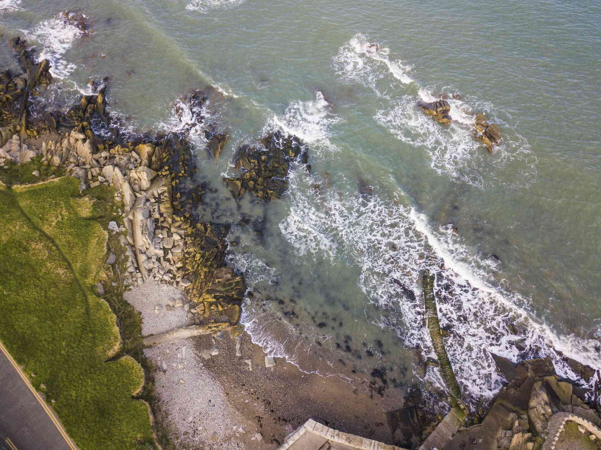arial view of Dublin beach