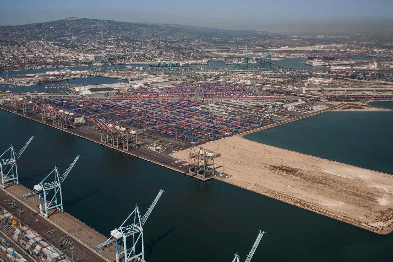 Vista aérea del Puerto de Los Ángeles