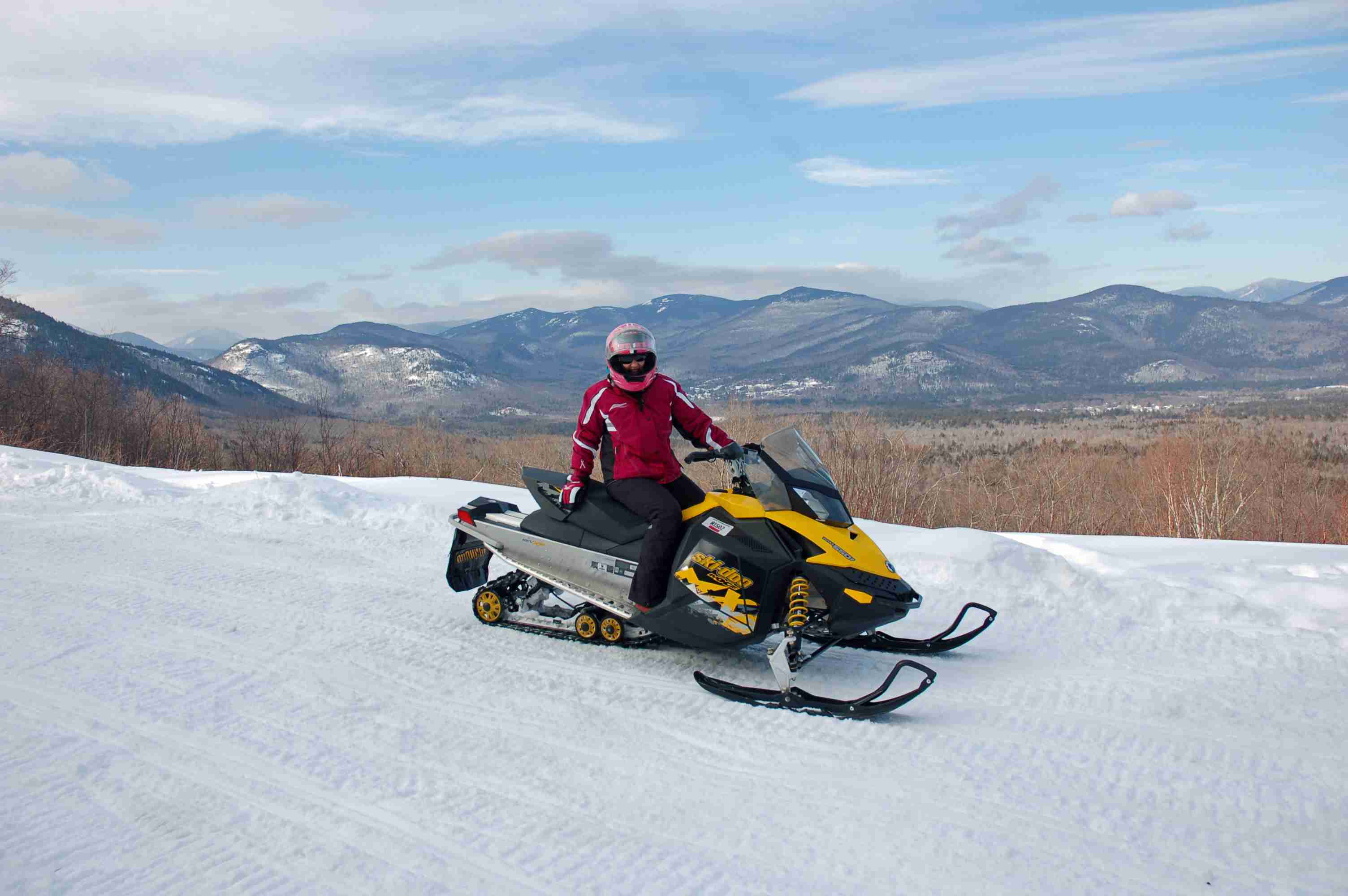 Snowmobile in New England