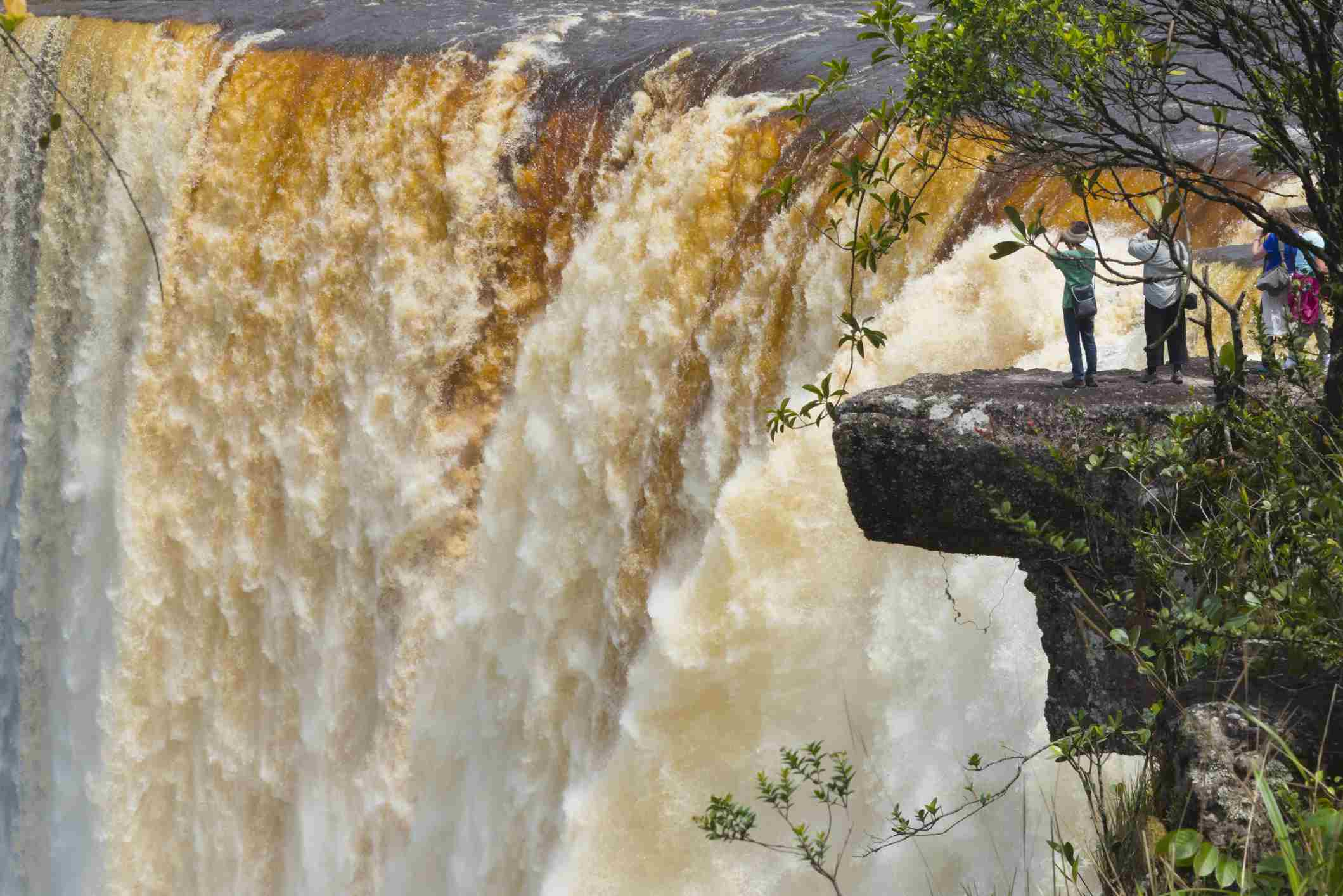 Tourists Watching Kaieteur Falls