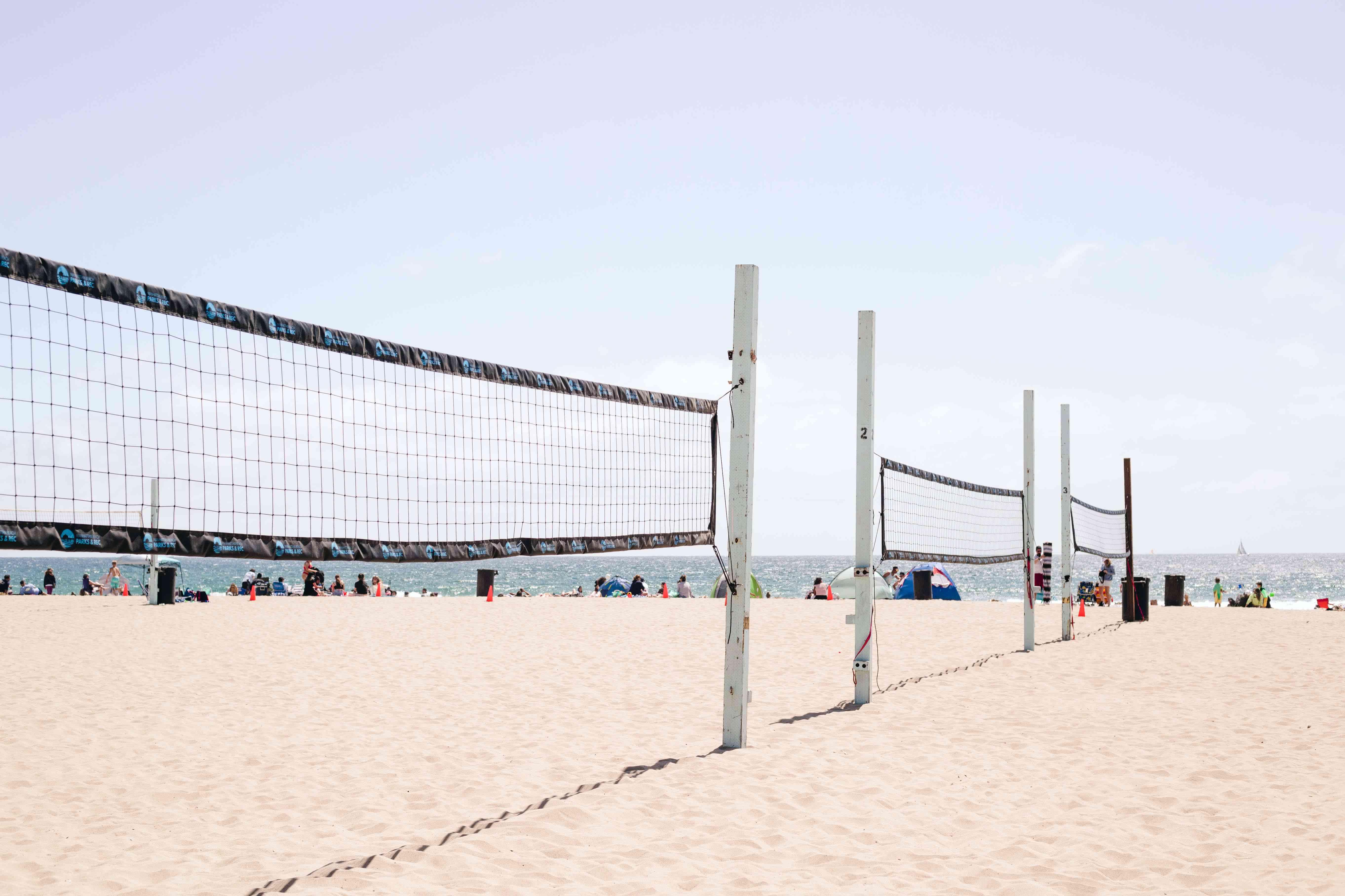 Volleyball area on Manhattan Beach, LA