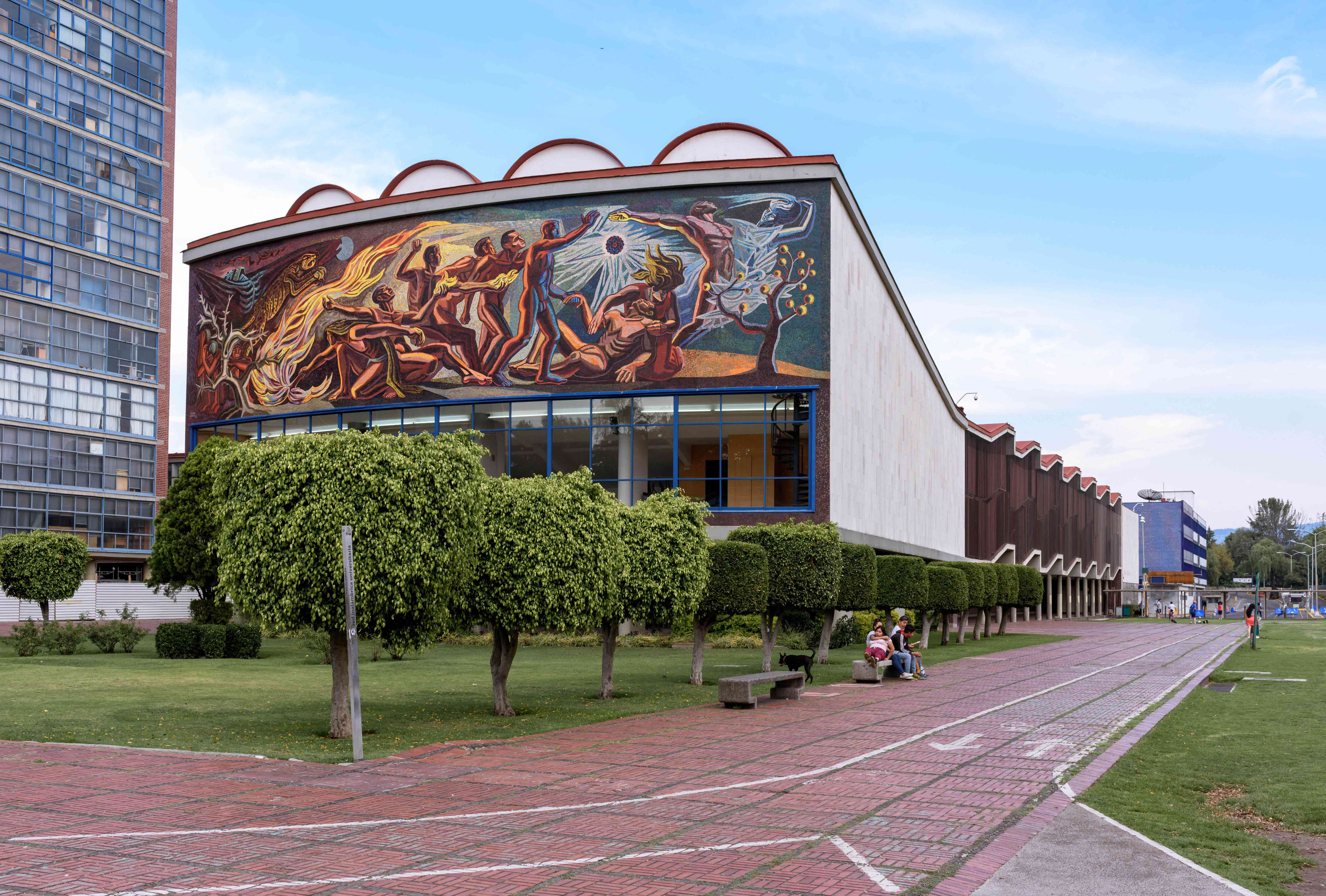 A mural on UNAM