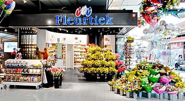 The Fleurtiek store at Amsterdam Schiphol Airport.