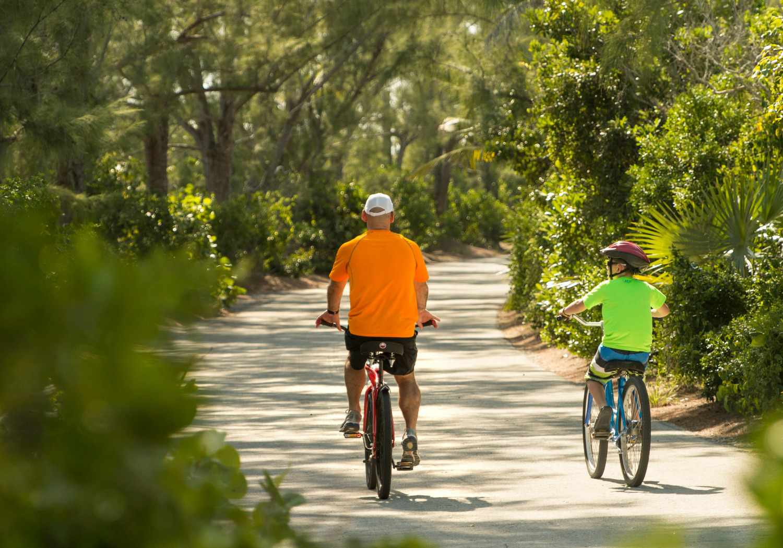 Biking on Castaway Cay, Disney's Private Island