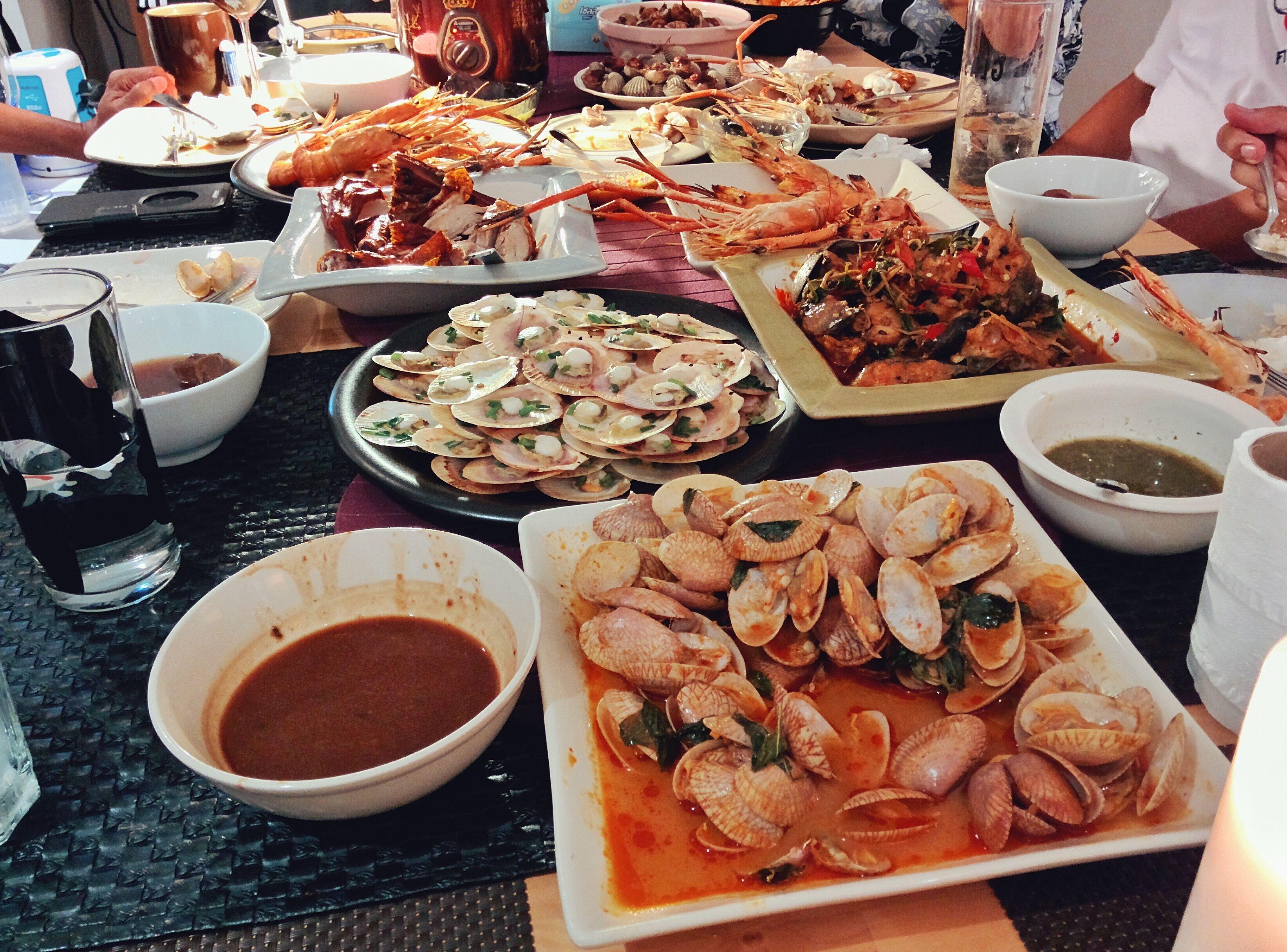 Thai food prepared in Bang Bua Thong, Thailand