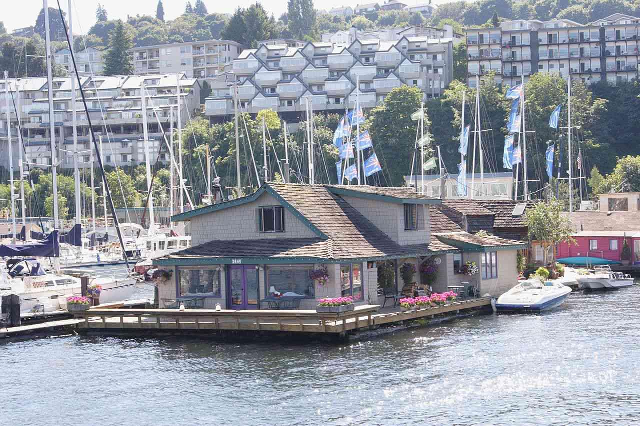 Insomnio en la casa flotante de Seattle utilizada en la filmación