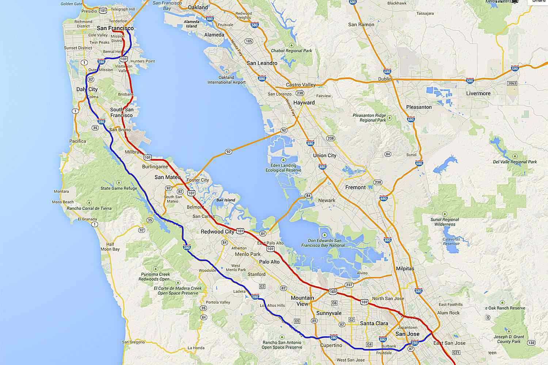 Highway 101 California Map California Highway 101: LA to San Francisco Road Trip Highway 101 California Map