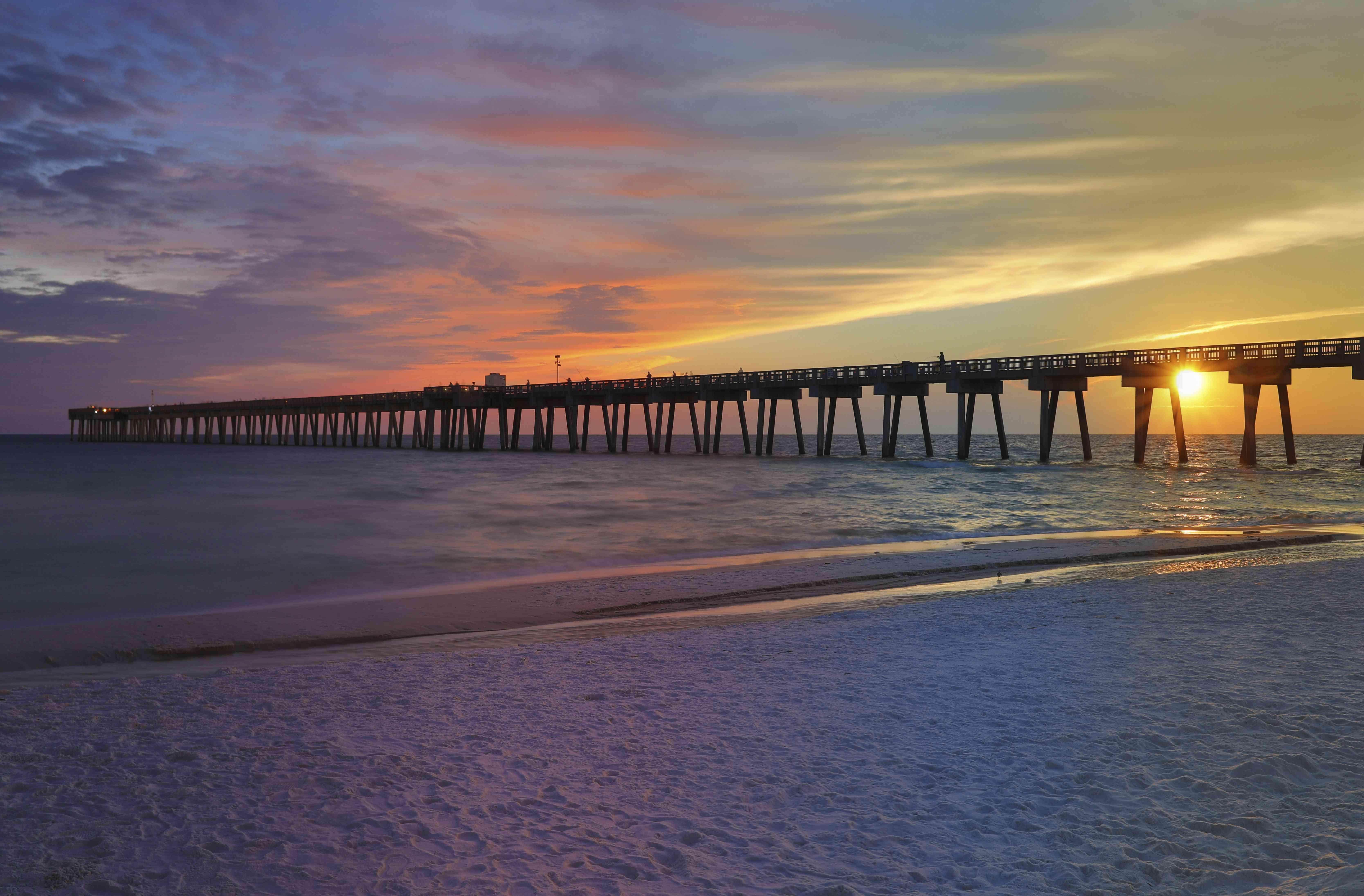 USA, Florida, M.B. Miller County Pier, Panama City Beach