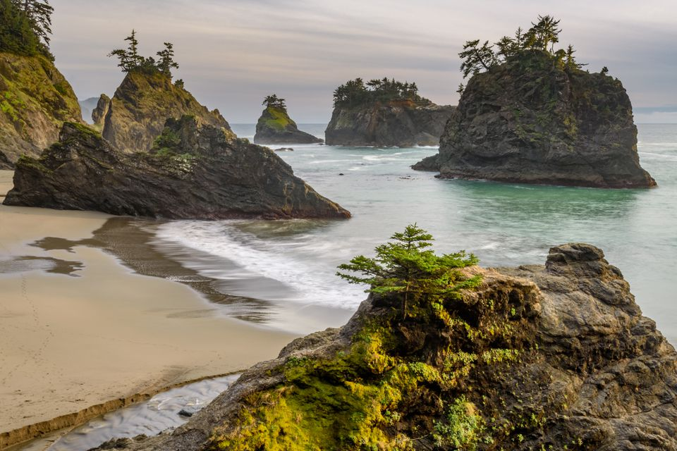 Secret Beach Sea Stacks in Brookings, Oregon