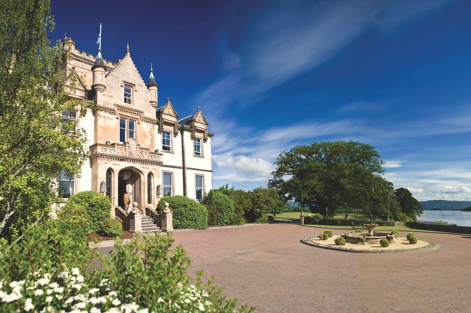 Entrance of Cameron House on Loch Lomond, Scotland