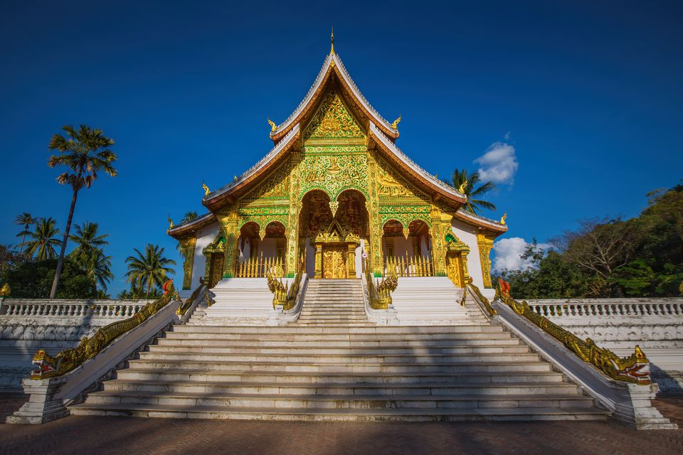 Punto de referencia de la ciudad de Luang Prabang en Laos (Museo del Palacio Real)