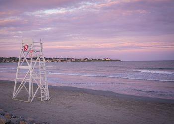 Newport RI Beach at Sunset