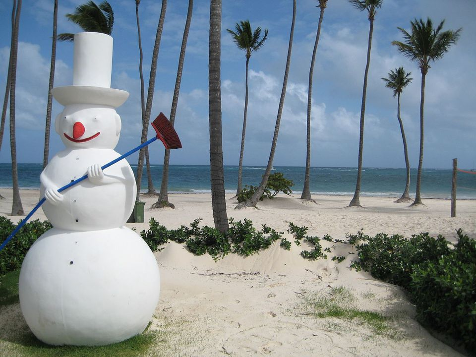 Snowman in the Caribbean