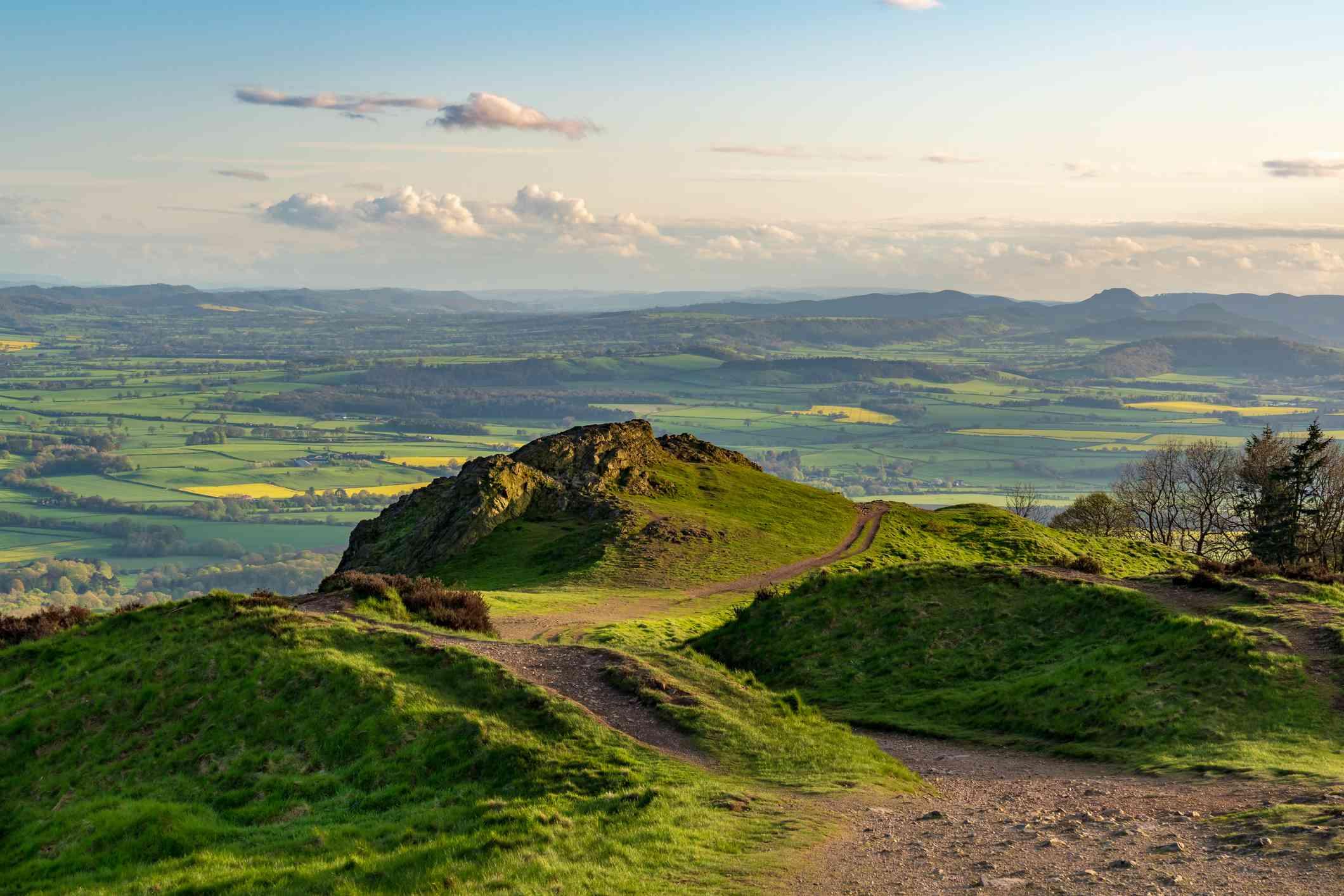 View from the Wrekin, Shropshire, England