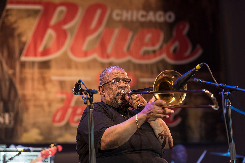 Fred Wesley en Chicago Blues Fest