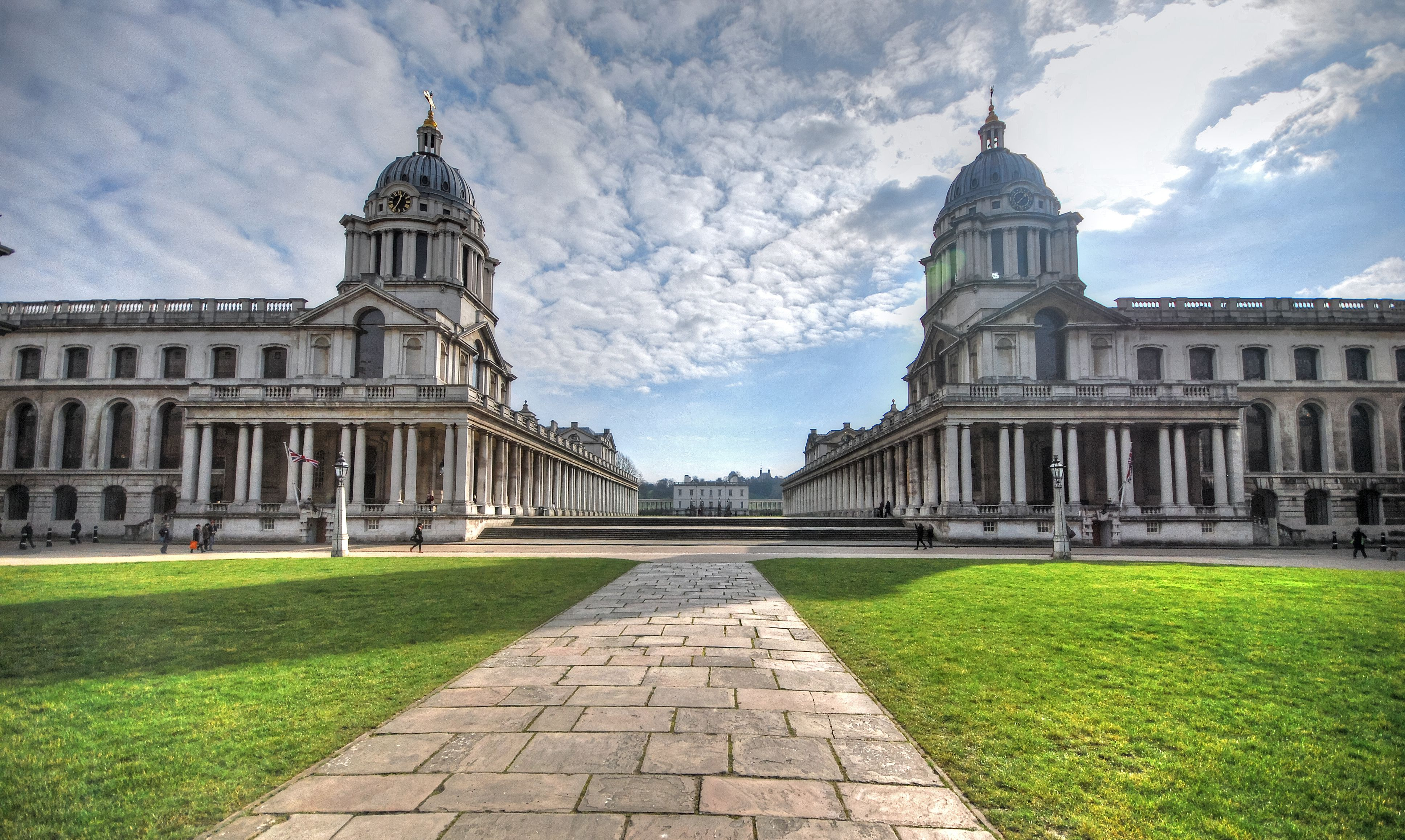 Old Royal Naval College and Grounds in Greenwich, London, England