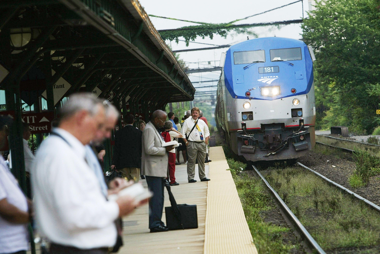 Amtrak Picking up Passengers in Virginia