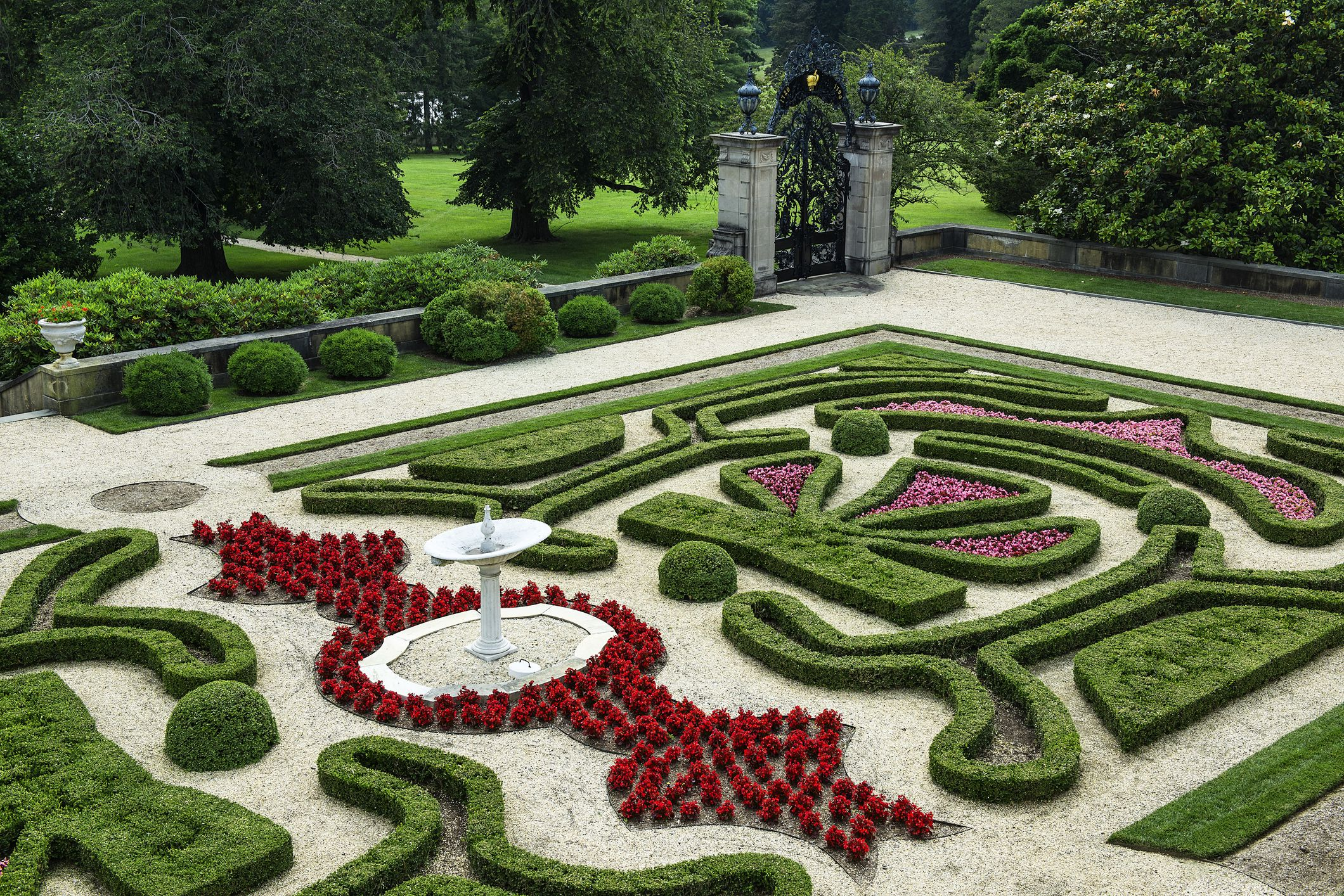 Boxwood Garden at Nemours Mansion and Gardens in Wilmington