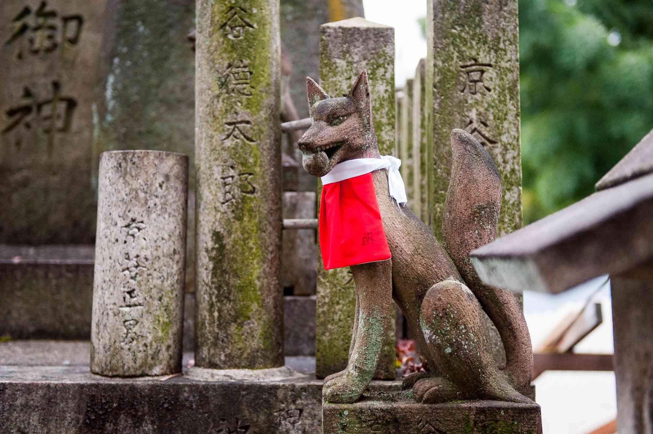 Kitsune Fox Yokai Statue