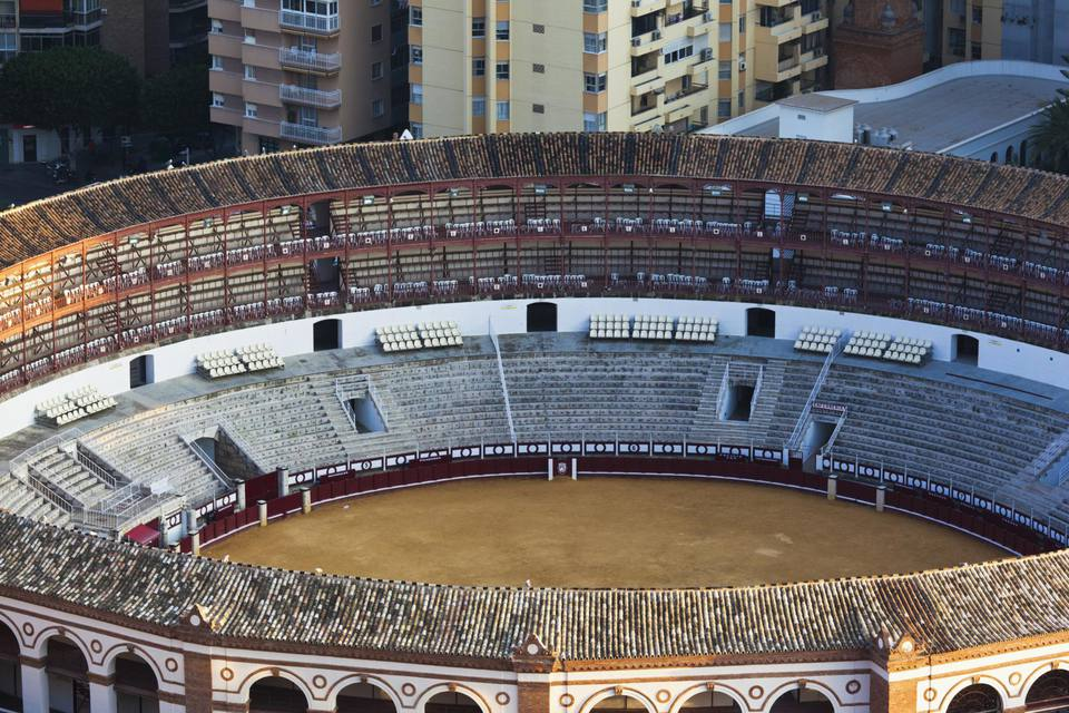 View of the Plaza de Toros bullring Spain