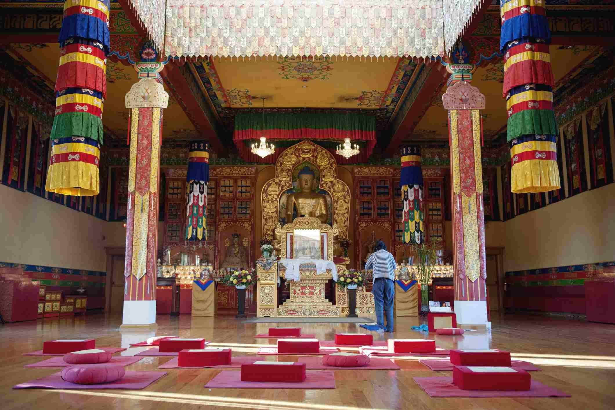 Shrine in Karma Triyana Dharmachakra Tibetan Buddhist Monastery, Woodstock, New York, USA