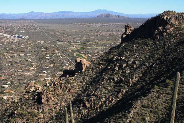 View from Black Mountain in Cave Creek, AZ