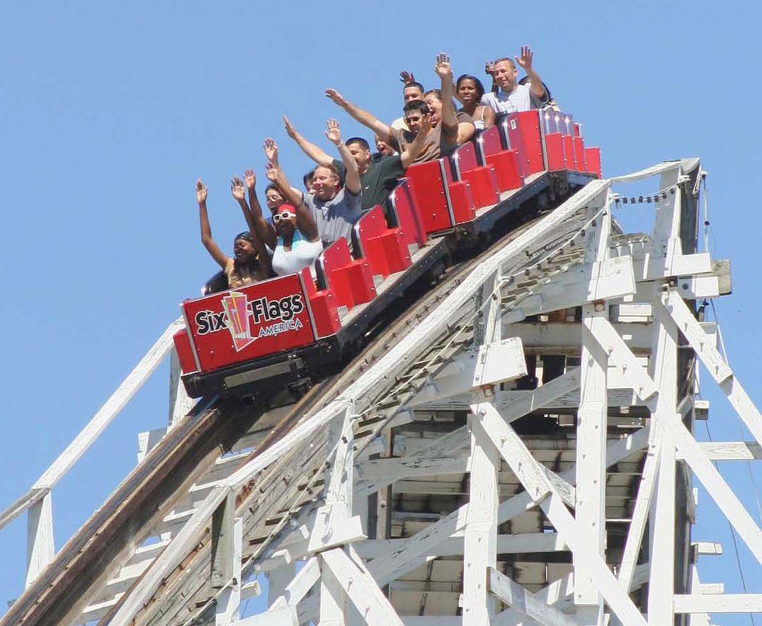Six Flags America roller coaster