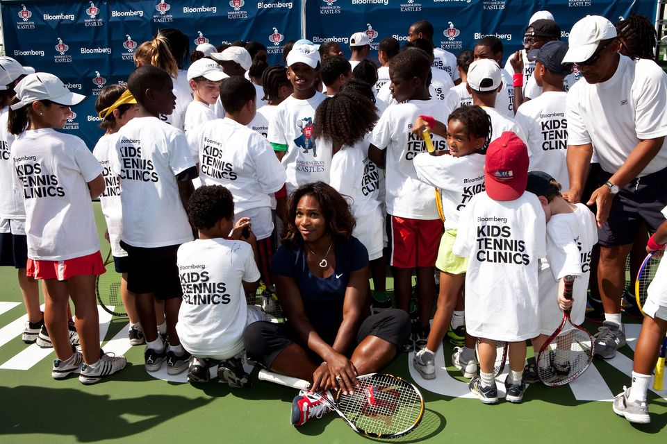 Serena Williams with kids