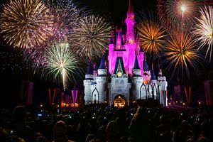 Fireworks at the Magic Kingdom in Walt Disney World