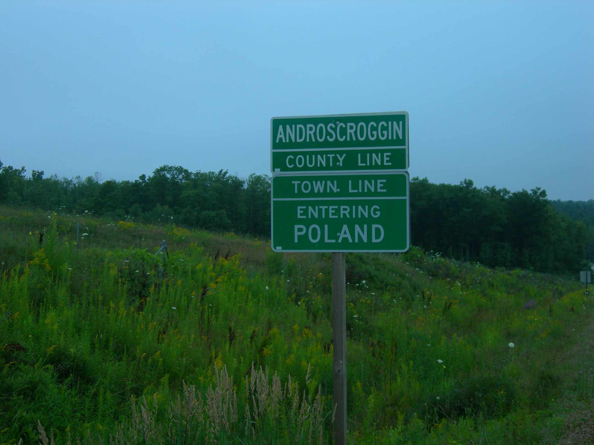 Poland Maine Sign