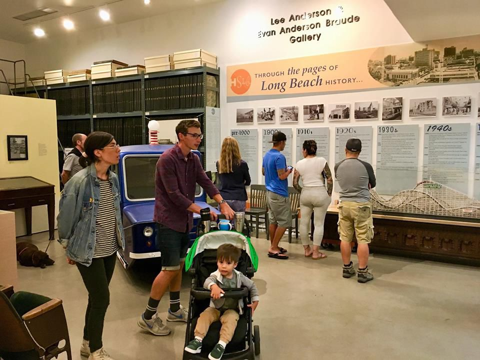 Inside an exhibit of the Historical Society of Long Beach