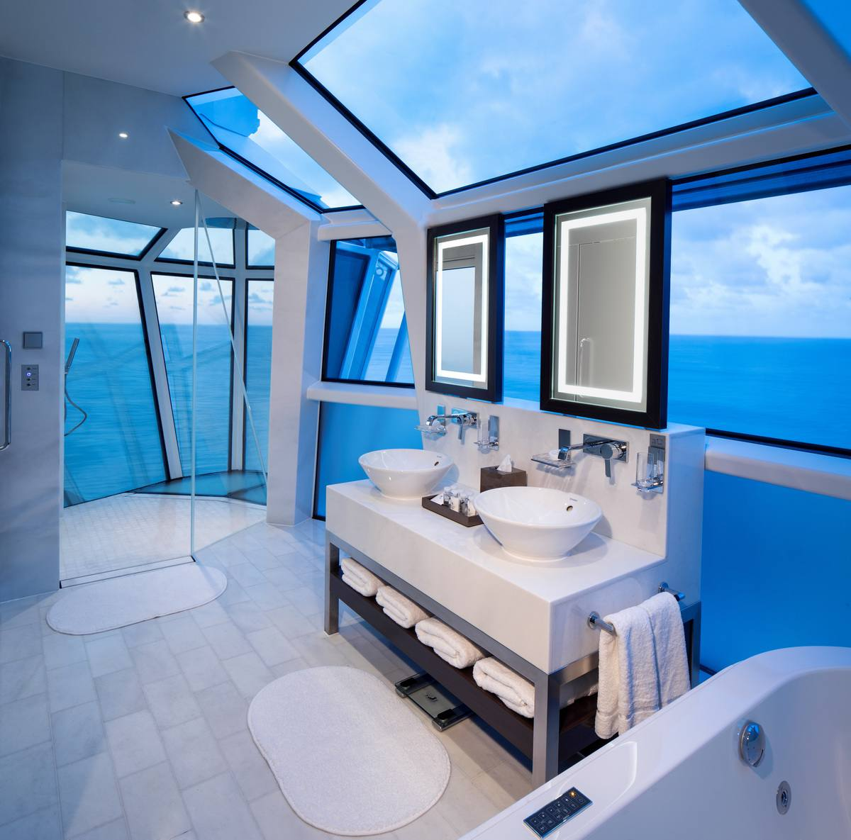 Reflection Suite bathroom on the Celebrity Reflection