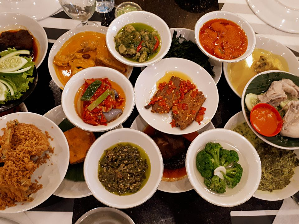 Padang food in Indonesia