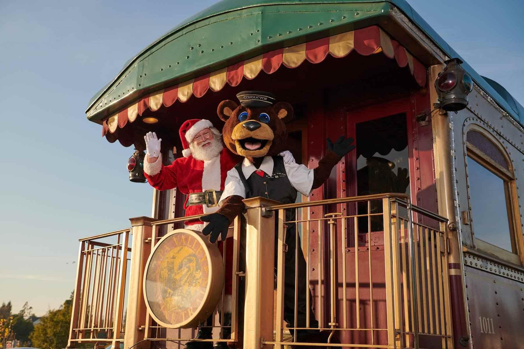 Napa Valley Wine Train Santa Train