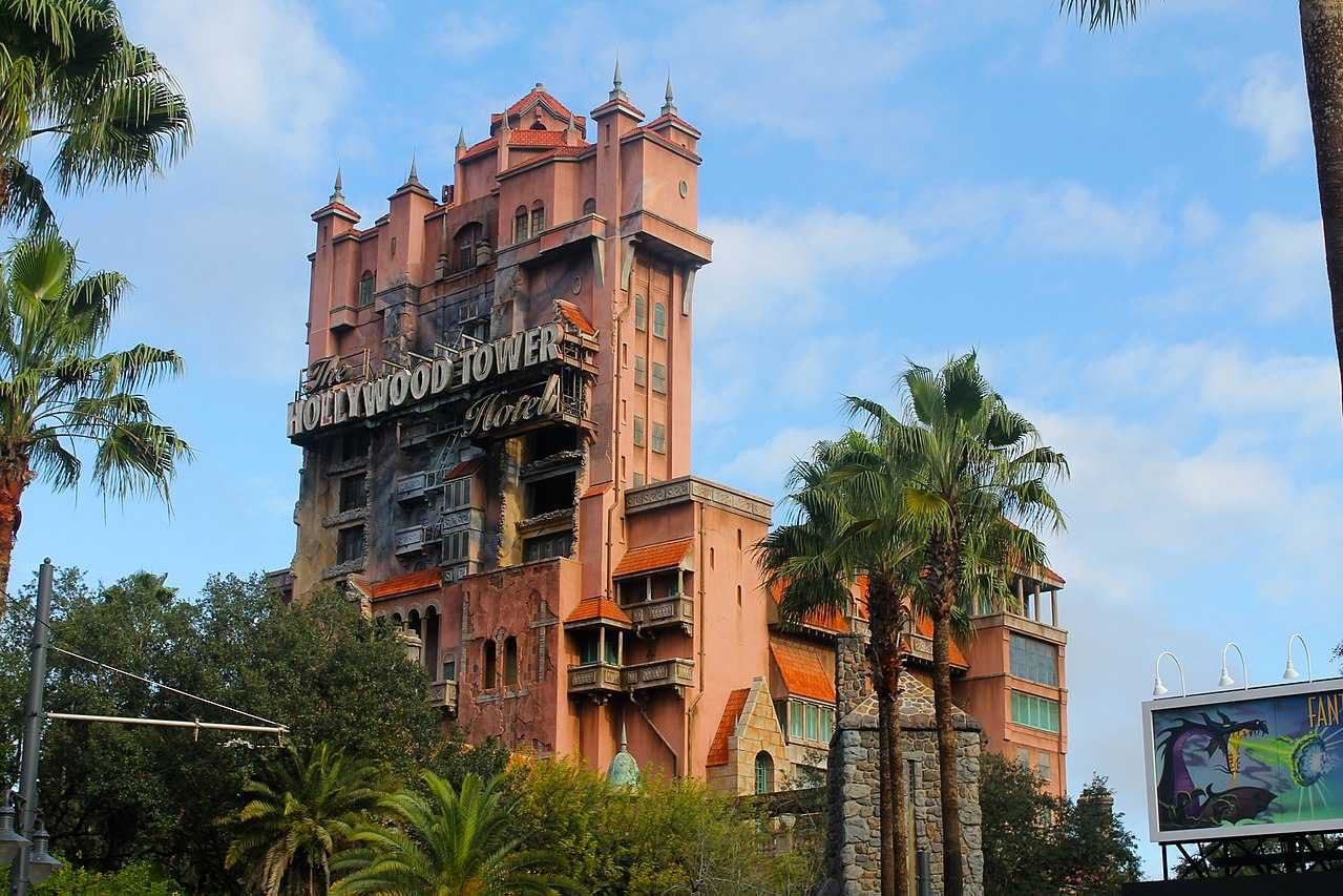 The Hollywood Tower Hotel ride