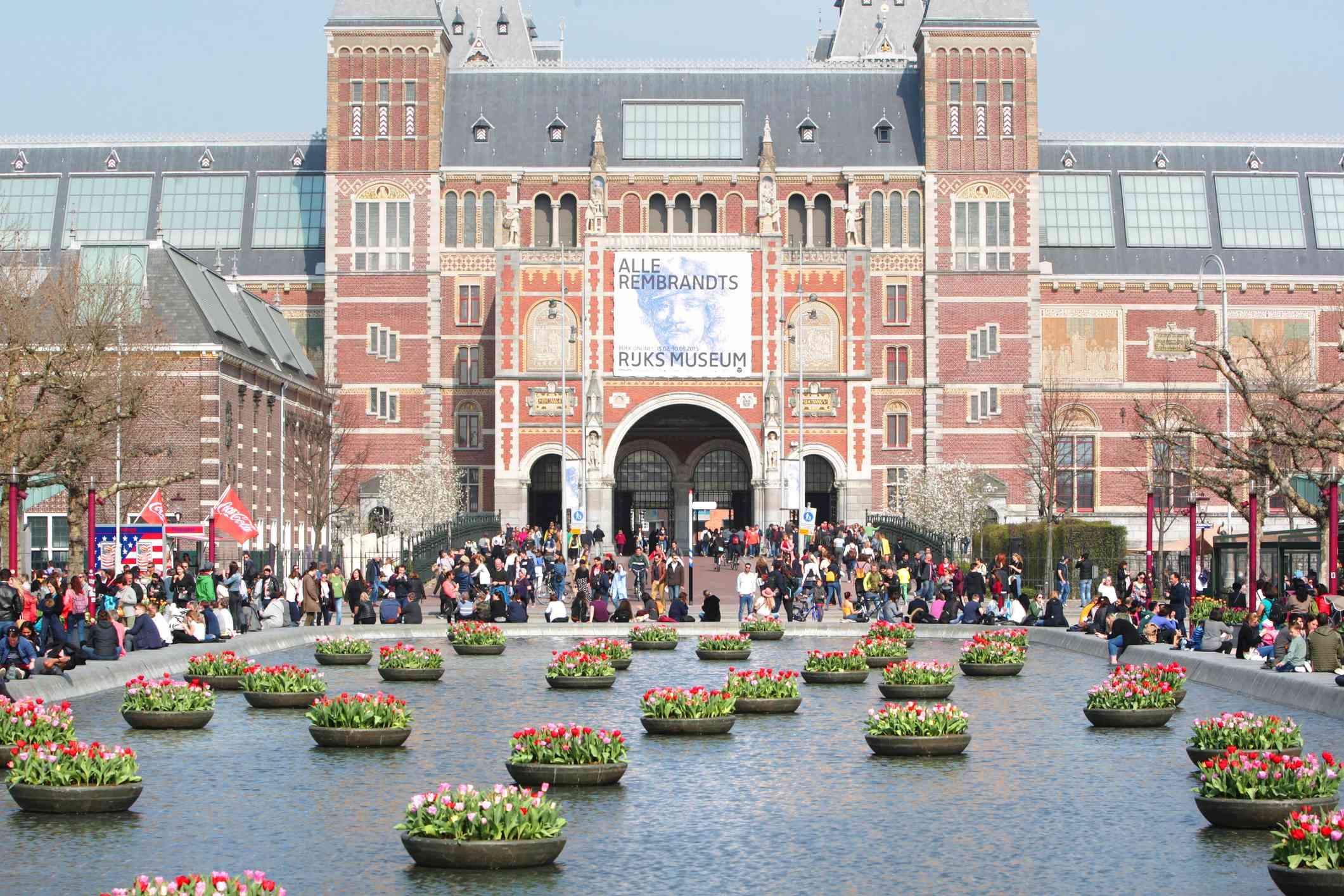People Enjoying at Museumplein in Amsterdam
