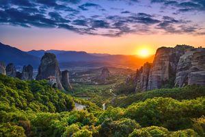 Meteora & Sunset