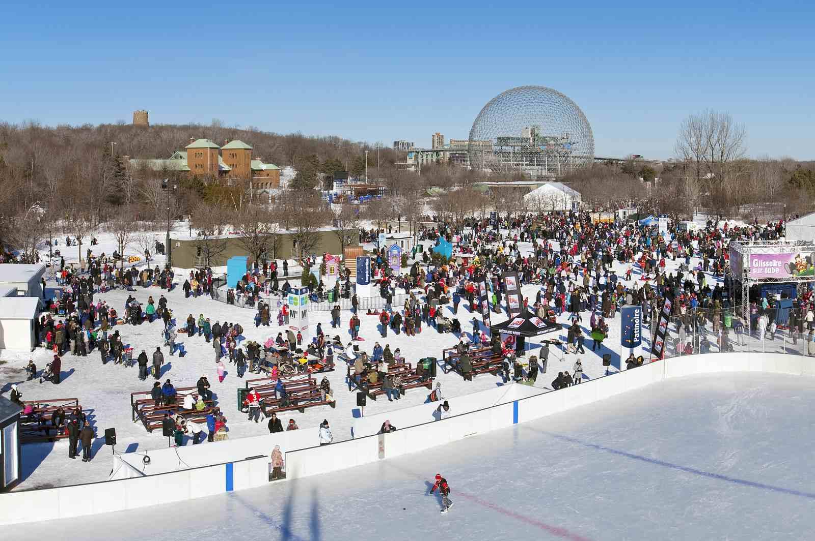 Parc Jean-Drapeau in winter