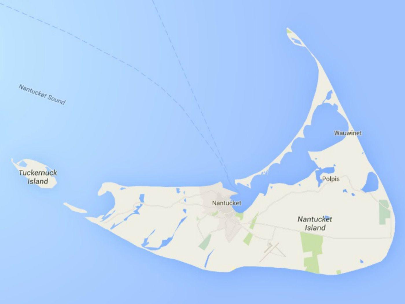 Map of Nantucket Island