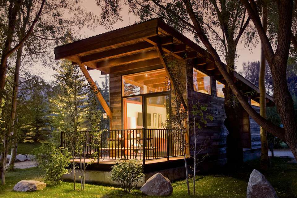 "Fireside Resort's Wheelhaus ""Wedge"" tiny house: 400 square feet inside, 100 outside."
