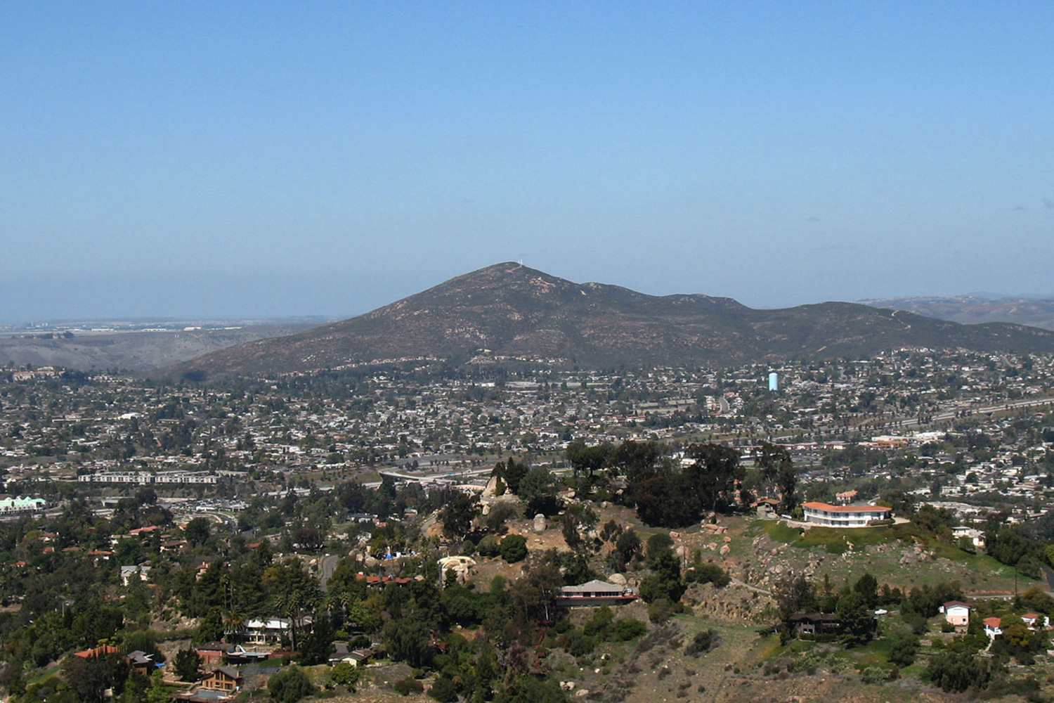View of Cowles Mountain from Mt. Helix