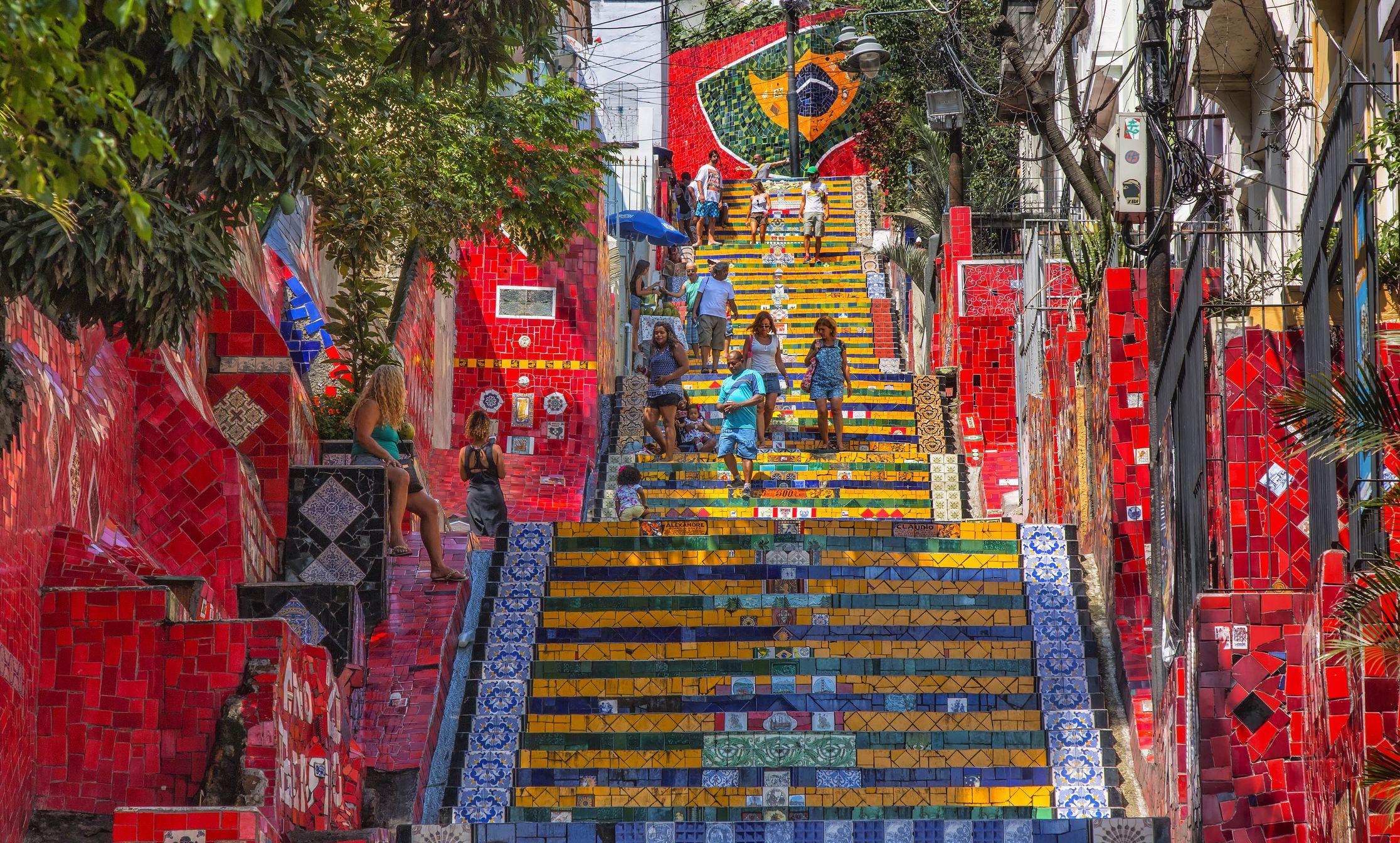 Selaron stairs in Rio de Janeiro