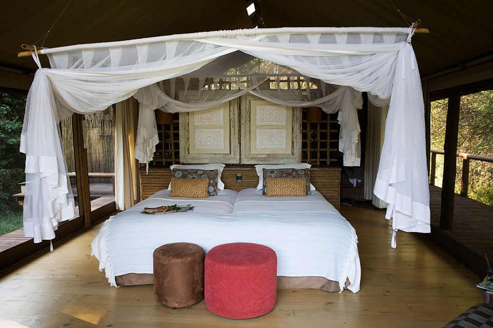 Luxury tent at Pafuri Camp, Kruger National Park