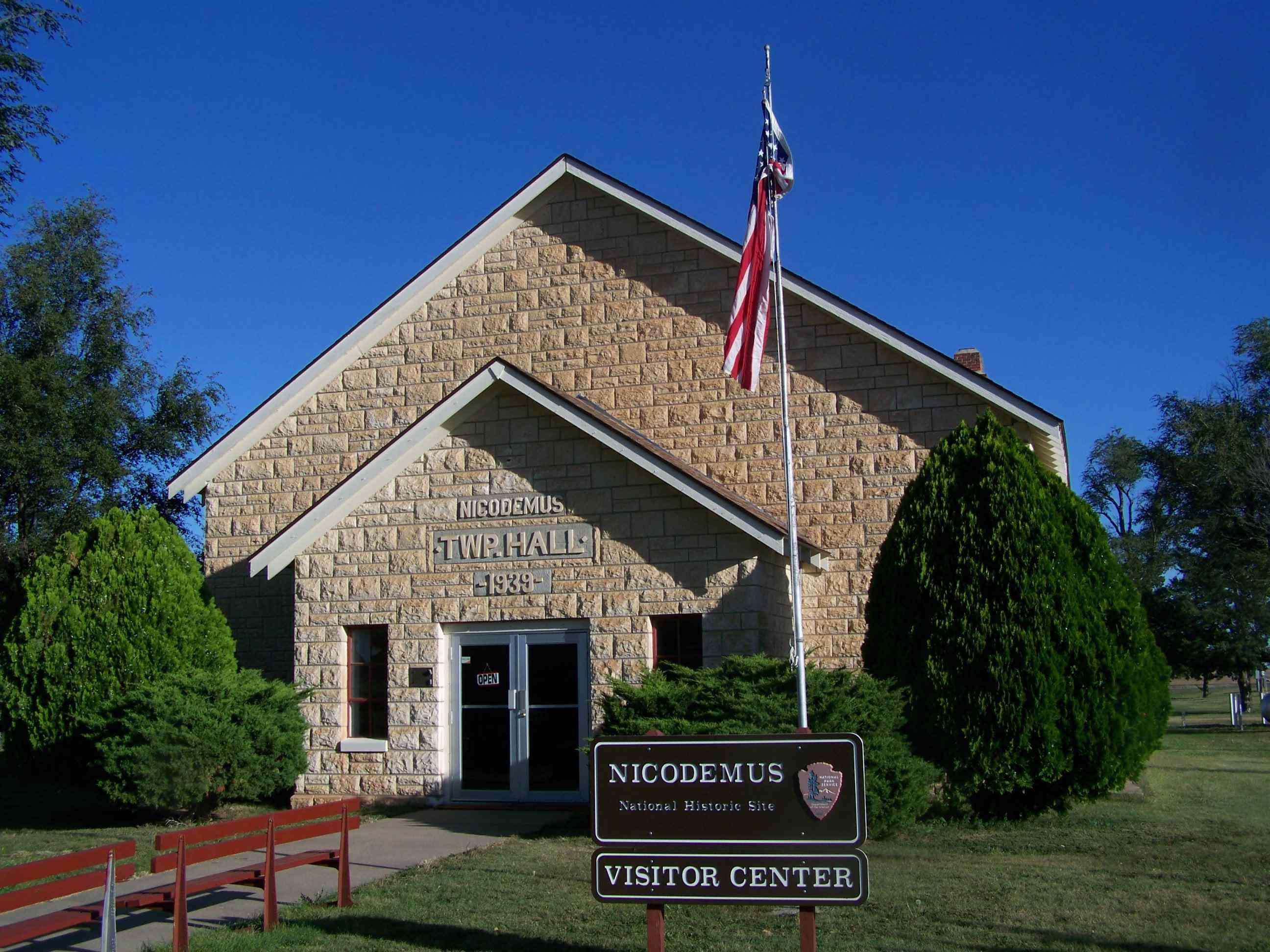 Stone Visitor Center in Nicodemus National Historic Site, Graham County, Kansas