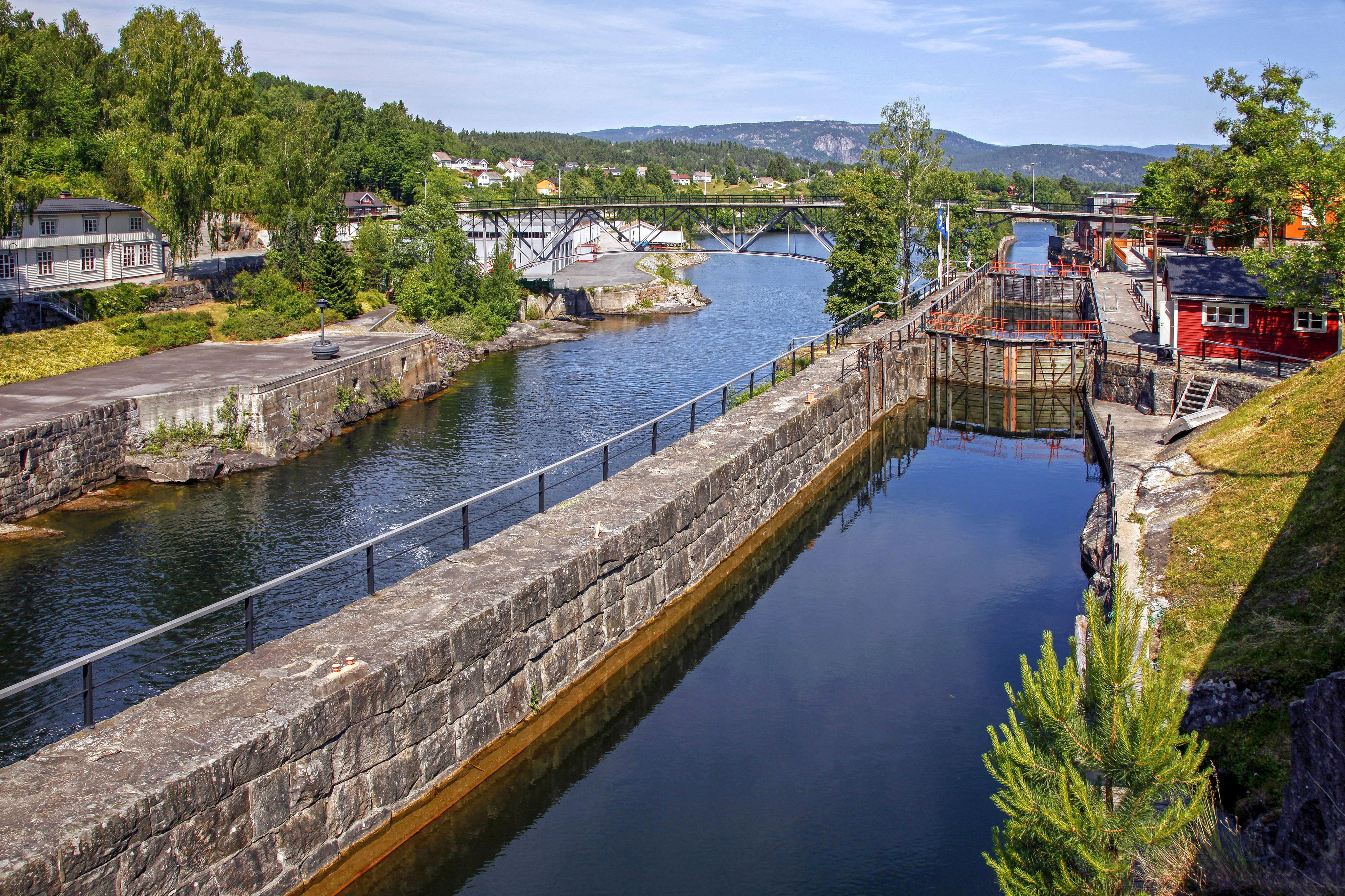 Ulefoss Lock, Telemark Canal, Telemark, Norway