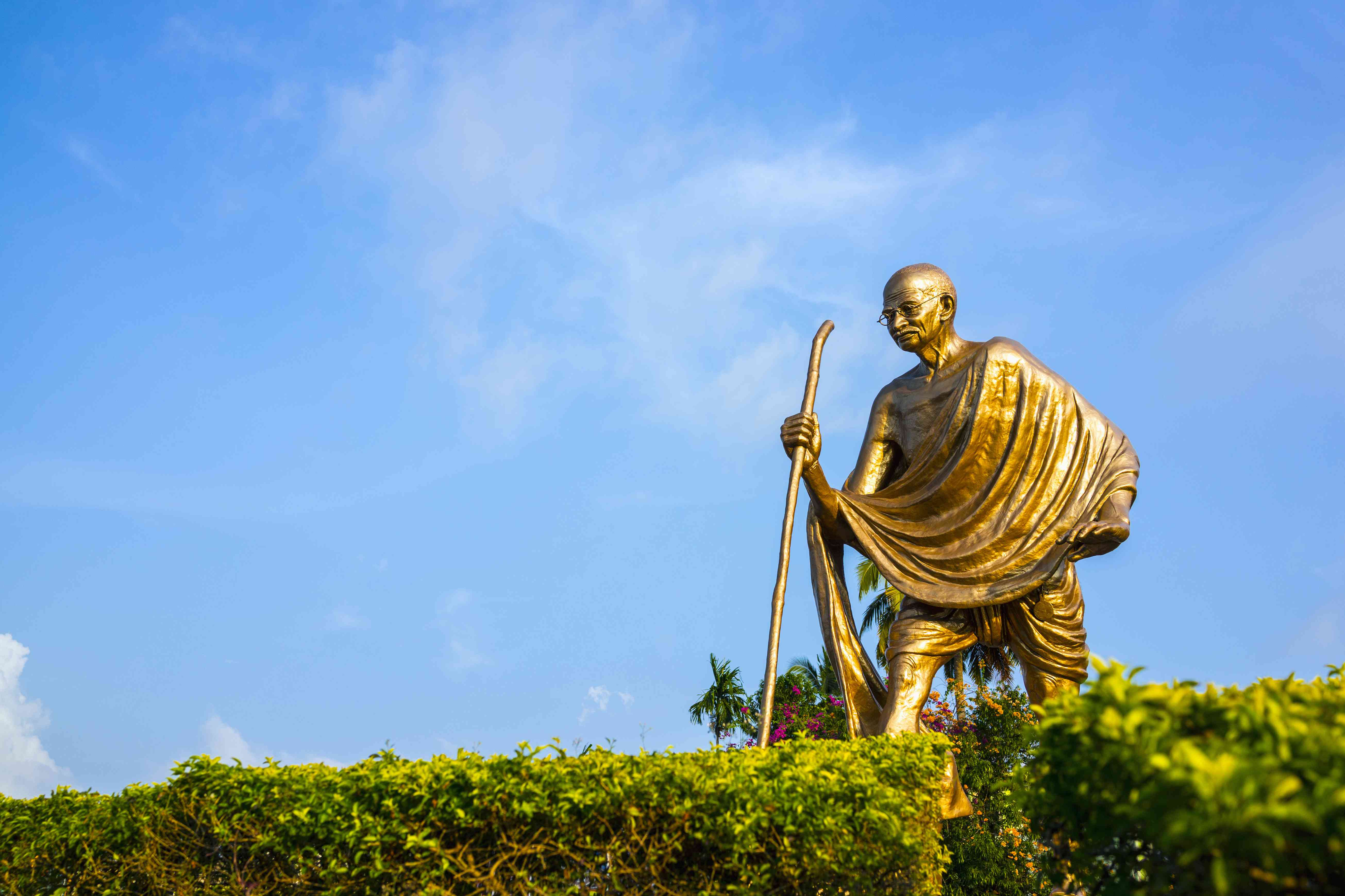 Gandhi statue at Port Blair in the Andaman Islands