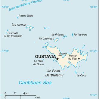 Saint Barths Map