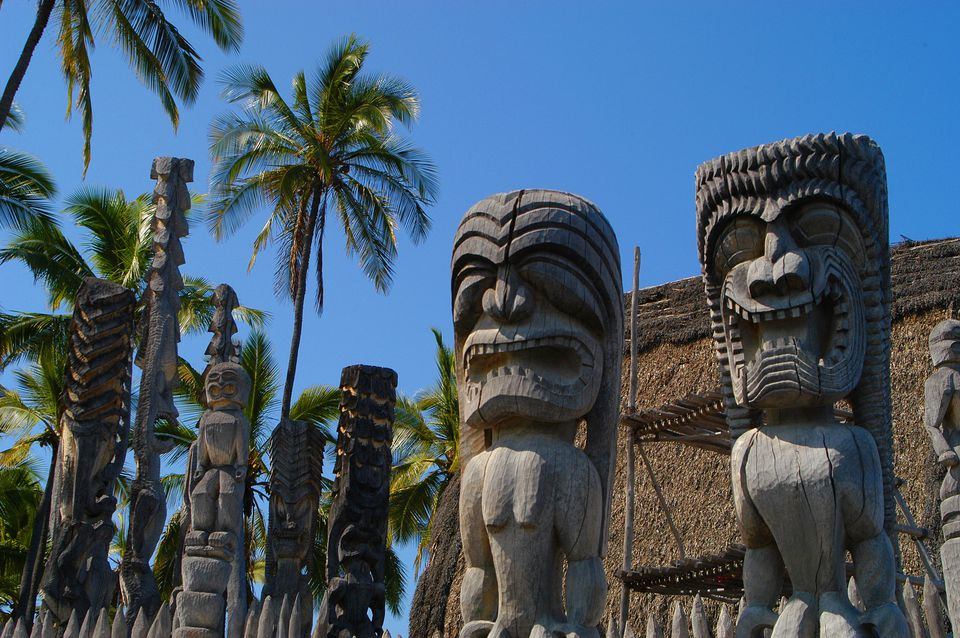 Guardian Kii at Pu'uhonua o Hōnaunau National Historical Park