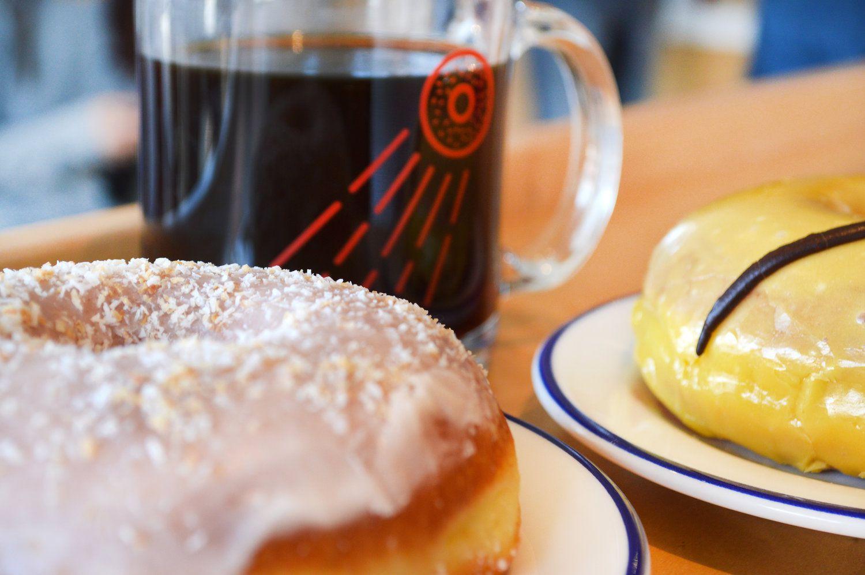 Doughnuts and coffee at COFAX, Los Angeles