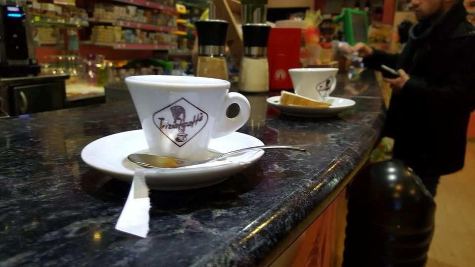 Caffè at a bar in Italy
